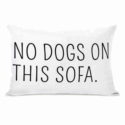 No Dogs on This Sofa Reversible Lumbar Pillow