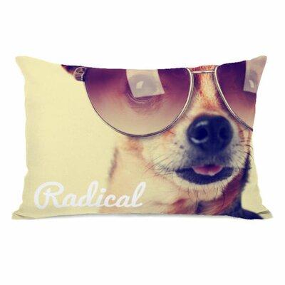 Radical Pup Fleece Lumbar Pillow