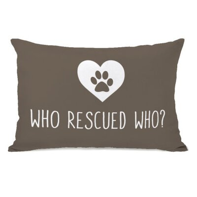 Who Rescued Who Lumbar Pillow