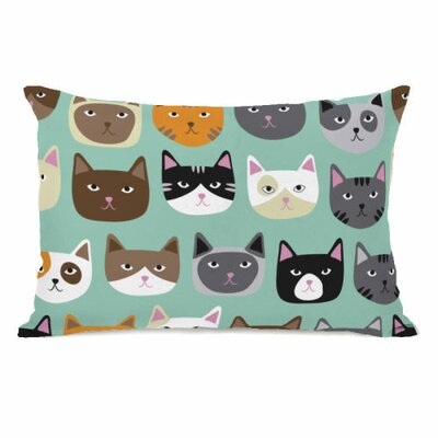 Cat Smiles Fleece Lumbar Pillow