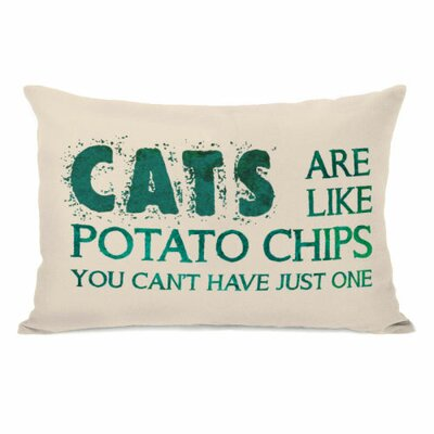 Cats Are like Potato Chips Lumbar Pillow