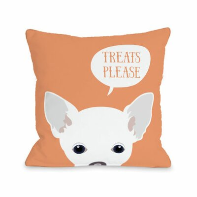 Peeking Chihuahua Throw Pillow