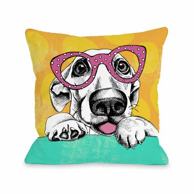Wacky Pup Throw Pillow Size: 18 H x 18 W