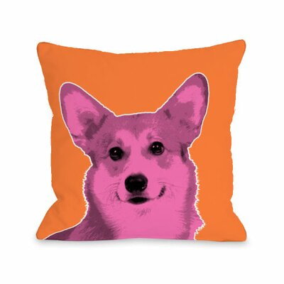 Whisker Dogs Corgi Throw Pillow Size: 16 H x 16 W
