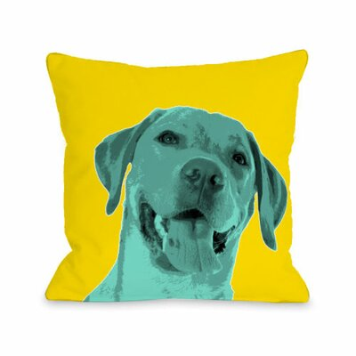 Whisker Dogs Lab Throw Pillow Size: 18 H x 18 W