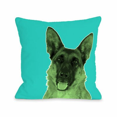 Whisker Dogs Shephard Throw Pillow Size: 18 H x 18 W