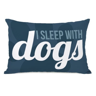 I Sleep with Dogs Lumbar Pillow
