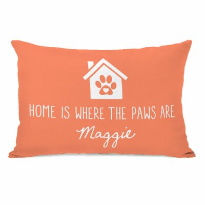 Personalized Home Is Where the Paws Are Lumbar Pillow