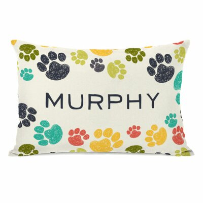 Personalized Paws Lumbar Pillow
