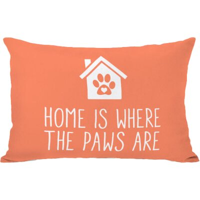 Home Is Where the Paws Are Lumbar Pillow