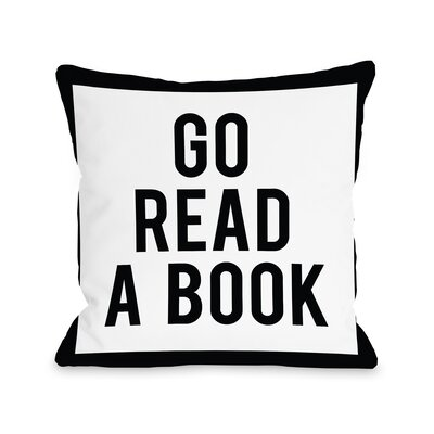 Gingham Go Read a Book Fleece Throw Pillow
