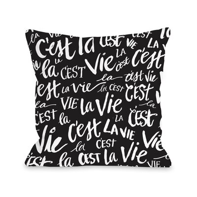 Cest La Vie Fleece Throw Pillow
