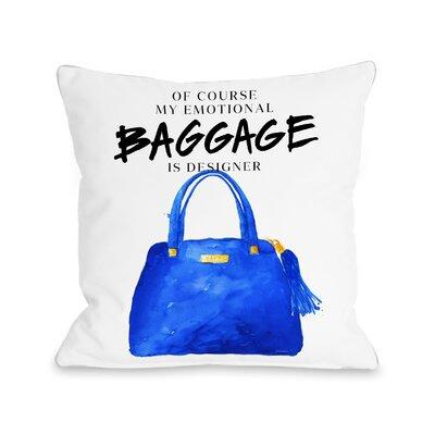 Emotional Baggage Fleece Throw Pillow