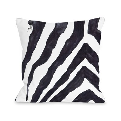 Clough Stripey Zebra Throw Pillow Size: 18 x 18