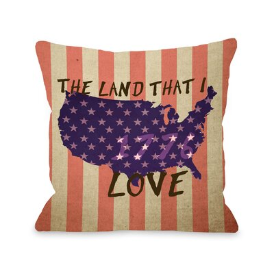 Land that I Love Stripe Fleece Throw Pillow