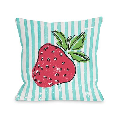 Strawbooty Throw Pillow Size: 16 H x 16 W x 3 D