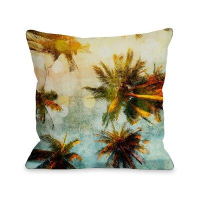 Palm Tree Gazer Fleece Throw Pillow