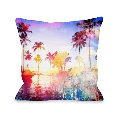 Santa Monica Fleece Throw Pillow