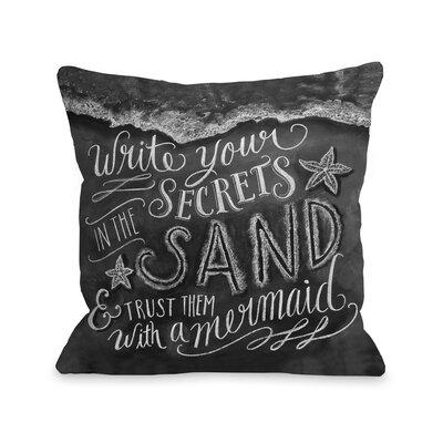 Secrets in the Sand Fleece Throw Pillow
