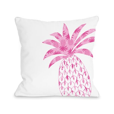 Pleasant Pineapple Fleece Throw Pillow