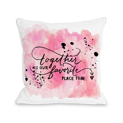 Our Favorite Place Fleece Throw Pillow