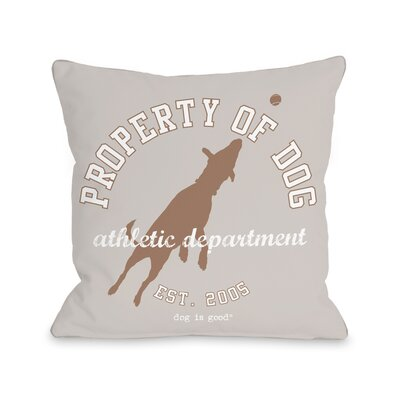 Property of Dog Throw Pillow