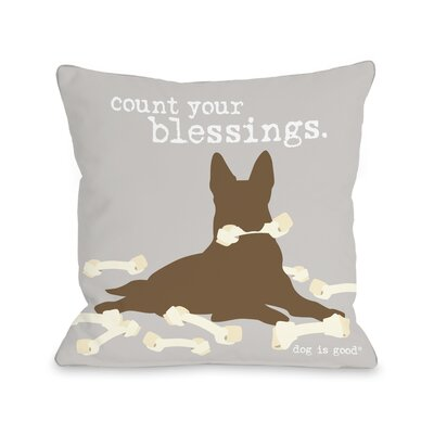 Blessings Throw Pillow Size: 16 H x 16 W x 3 D