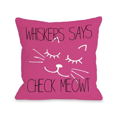 Cat Says Check Meowt Personalized Fleece Throw Pillow