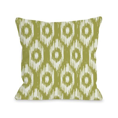 Kelly Ikat Fleece Throw Pillow Color: Oasis Green / Ivory
