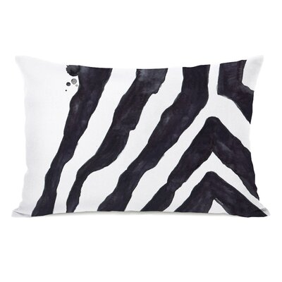 Stripey Zebra Fleece Lumbar Pillow