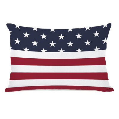 American Flag  Section Fleece Lumbar Pillow