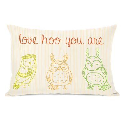 Love Hoo You are Fleece Lumbar Pillow