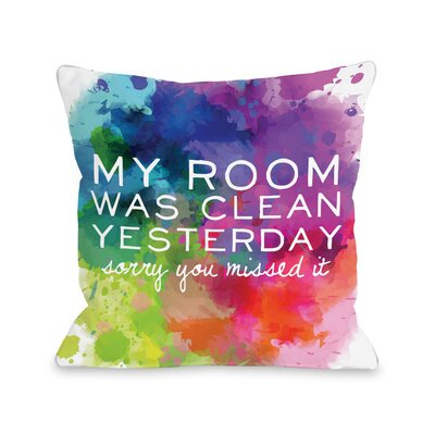 Room Was Clean Fleece Throw Pillow