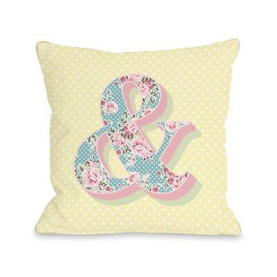 Ampersand Floral Fleece Throw Pillow