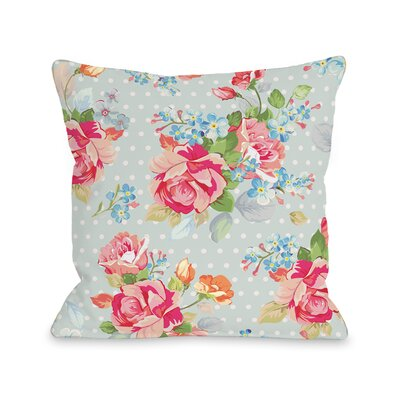Oversized Cabbage Rose Throw Pillow