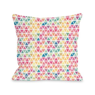 Watercolor Geometric Throw Pillow