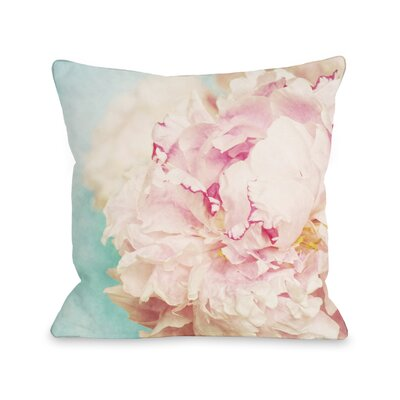 Delicate Peony Throw Pillow Size: 16 x 16, Fabric: Polyester