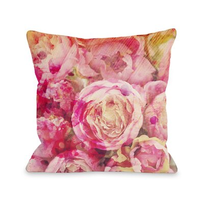 Peony Dreams Throw Pillow