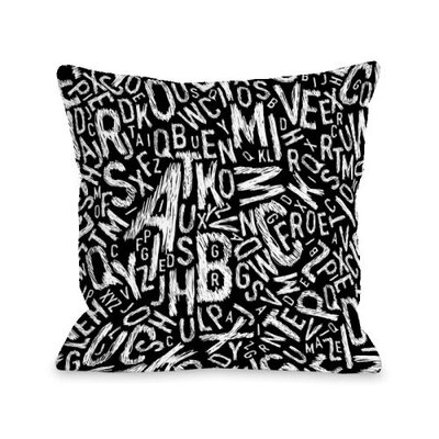 Chalk Letters Throw Pillow