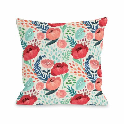 Central Park Florals Throw Pillow