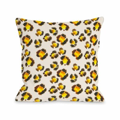 Leopard Spots Watercolor Throw Pillow