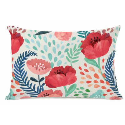 Central Park Florals Fleece Lumbar Pillow
