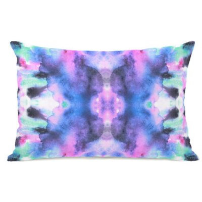 Abstract Fleece Lumbar Pillow
