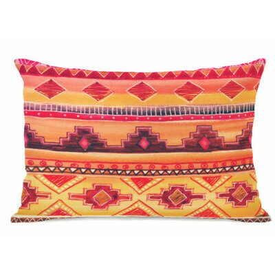 Tequila Sunrise Fleece Lumbar Pillow