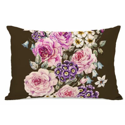 Flower Stripe Fleece Lumbar Pillow