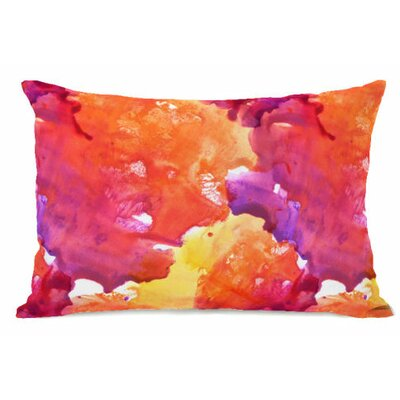 Neon Sunset Fleece Lumbar Pillow