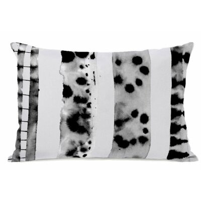 Splotch Lines Fleece Lumbar Pillow