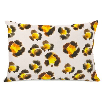 Leopard Spots Watercolor Fleece Lumbar Pillow