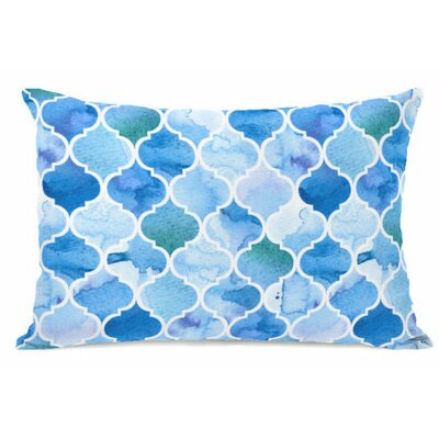 Ocean Moroccan Fleece Lumbar Pillow