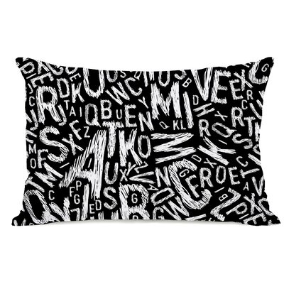 Chalk Letters Fleece Lumbar Pillow